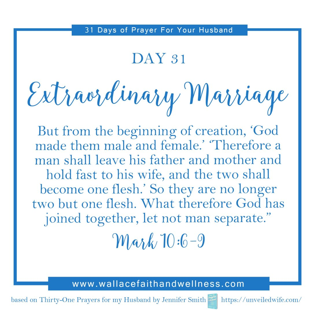 31 days of prayer for your husband   august 2016  DAY 31